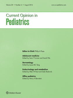 Current opinion pediatrics